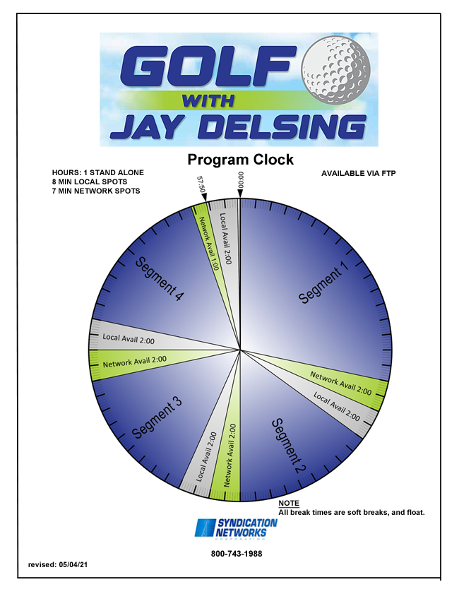 Golf With Jay Delsing Program Clock